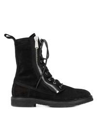 Мужские черные замшевые повседневные ботинки от Balmain