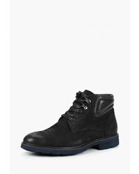 Мужские черные замшевые повседневные ботинки от Guido Grozzi
