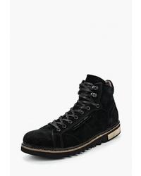 Мужские черные замшевые повседневные ботинки от HCS