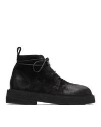 Мужские черные замшевые повседневные ботинки от Marsèll