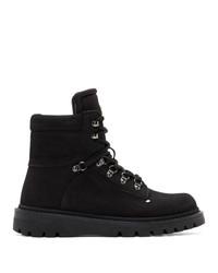 Мужские черные замшевые повседневные ботинки от Moncler