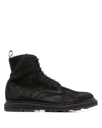 Мужские черные замшевые повседневные ботинки от Officine Creative