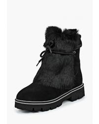 Черные замшевые полусапоги от King Boots