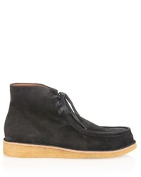 Черные замшевые рабочие ботинки