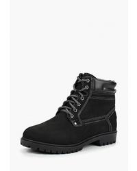 Мужские черные замшевые рабочие ботинки от Dino Ricci Trend