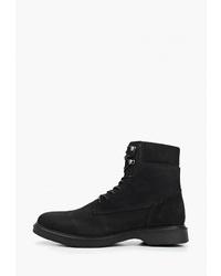 Мужские черные замшевые рабочие ботинки от Zign