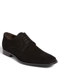 Черные замшевые туфли дерби