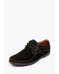 Черные замшевые туфли дерби от Badalli