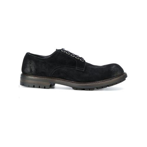 Черные замшевые туфли дерби от Dolce & Gabbana