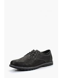 Черные замшевые туфли дерби от Escan