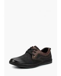 Черные замшевые туфли дерби от Instreet
