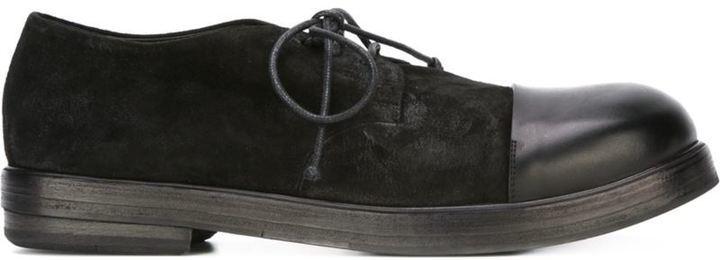 Черные замшевые туфли дерби от Marsèll