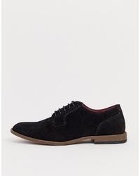 Черные замшевые туфли дерби от New Look