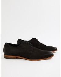 Черные замшевые туфли дерби от Pier One