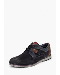 Черные замшевые туфли дерби от s.Oliver