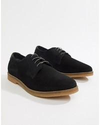Черные замшевые туфли дерби от Silver Street