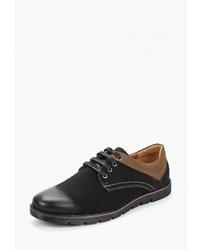 Черные замшевые туфли дерби от T.Taccardi
