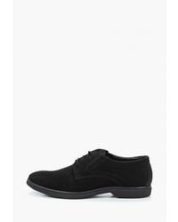 Черные замшевые туфли дерби от Valley