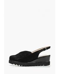 Черные замшевые туфли на танкетке от Balex