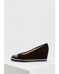 Черные замшевые туфли на танкетке от Zenux