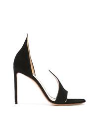 Черные замшевые туфли с вырезом от Francesco Russo