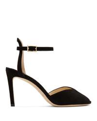 Черные замшевые туфли с вырезом от Jimmy Choo