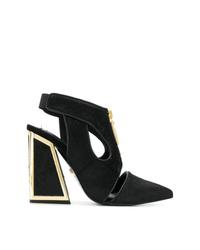 Черные замшевые туфли с вырезом от Kat Maconie