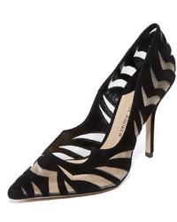 Черные замшевые туфли с вырезом от Paul Andrew