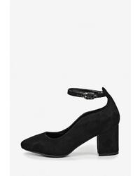 Черные замшевые туфли от Bona Mente