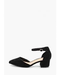 Черные замшевые туфли от Catisa