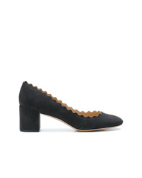 Черные замшевые туфли от Chloé