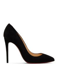 Черные замшевые туфли от Christian Louboutin