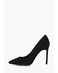 Черные замшевые туфли от Elche