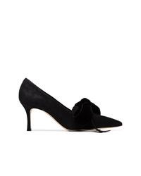Черные замшевые туфли от Manolo Blahnik