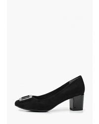 Черные замшевые туфли от Marco Tozzi