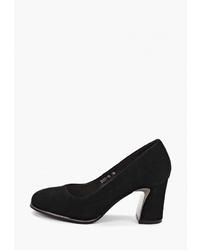 Черные замшевые туфли от Pierre Cardin