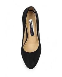 Черные замшевые туфли от Tamaris