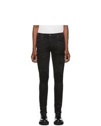 Мужские черные зауженные джинсы от Amiri