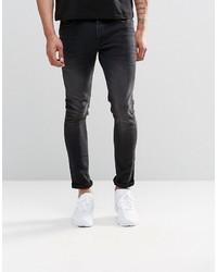 Мужские черные зауженные джинсы от Asos