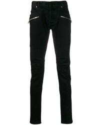 Мужские черные зауженные джинсы от Balmain