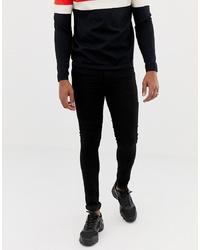 Мужские черные зауженные джинсы от Collusion