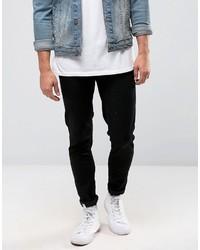 Мужские черные зауженные джинсы от Farah