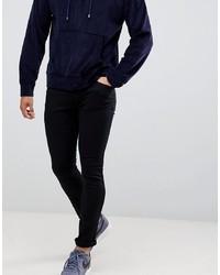 Мужские черные зауженные джинсы от Hugo
