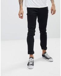 Мужские черные зауженные джинсы от Le Breve