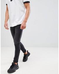 Мужские черные зауженные джинсы от Mennace