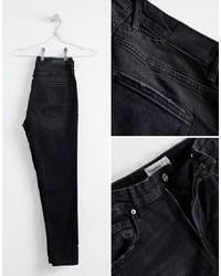 Мужские черные зауженные джинсы от Pull&Bear