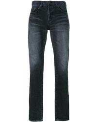 Мужские черные зауженные джинсы от Saint Laurent