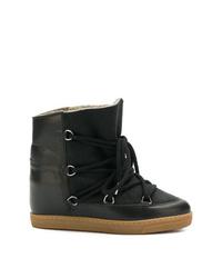 Женские черные зимние ботинки от Isabel Marant