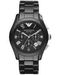 Черные керамические часы