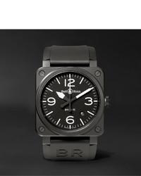 Мужские черные керамические часы от Bell & Ross
